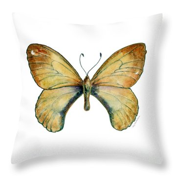 15 Clouded Apollo Butterfly Throw Pillow