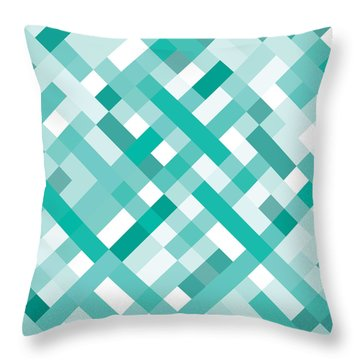 Throw Pillow featuring the digital art Geometric by Mike Taylor