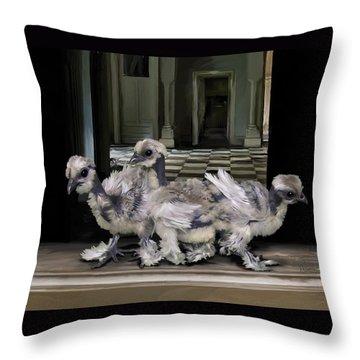 15. Lizard Chicks Throw Pillow