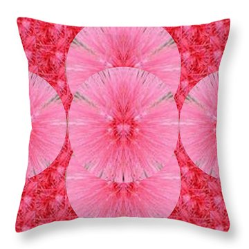 Novino Unique Signature Style Graphic Art Shades Of Sparkle Gold Textures And Flower Pattern In Betw Throw Pillow