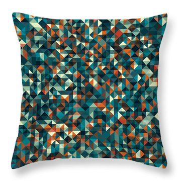 Retro Pixel Art Throw Pillow