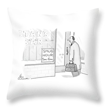 New Yorker July 25th, 2005 Throw Pillow
