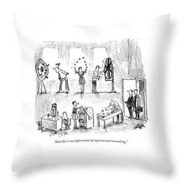 And This Is Our Department Of Experimental Throw Pillow