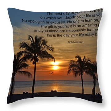 154- Bob Moawad Throw Pillow