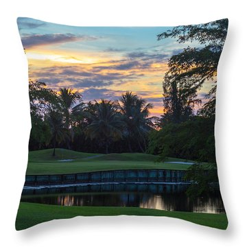 15th Green At Hollybrook Throw Pillow