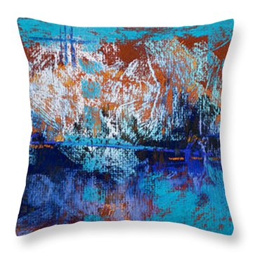 Bridges To Nowhere Throw Pillow by Tracy L Teeter