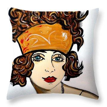 Art Deco  Hilda Throw Pillow