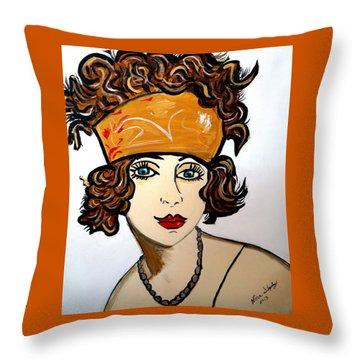 1920's Flapper Girl Throw Pillow