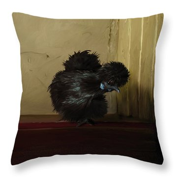 16. Black Silkie Throw Pillow