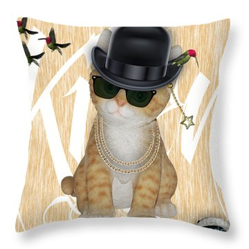 Cat Got The Mouse Throw Pillow