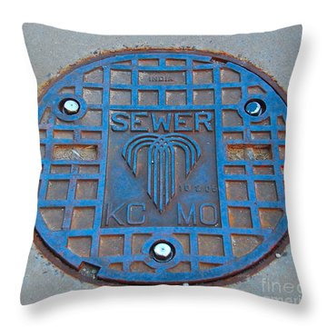 Man Hole Covers Kc Throw Pillow