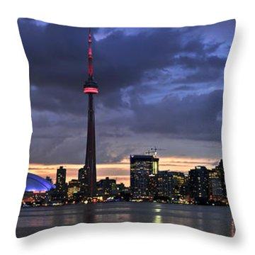 Toronto Skyline Throw Pillow by Elena Elisseeva