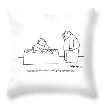 Lose The Tie Throw Pillow