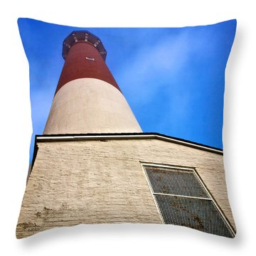 163 Feet Into The Clouds - Color Version Throw Pillow