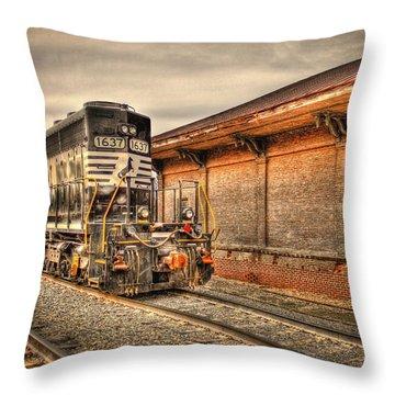 Locomotive 1637 Norfork Southern Throw Pillow