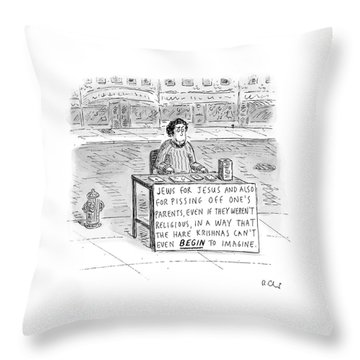 New Yorker October 25th, 2004 Throw Pillow