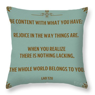 169- Lao Tzu Throw Pillow