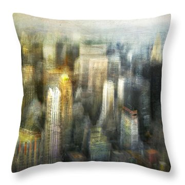 Cityscape #36 - Kissing Shadows Throw Pillow by Alfredo Gonzalez