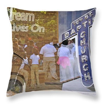Throw Pillow featuring the photograph 16th Street Baptist Church by Davina Washington