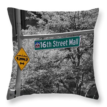16th Street Mall Throw Pillow