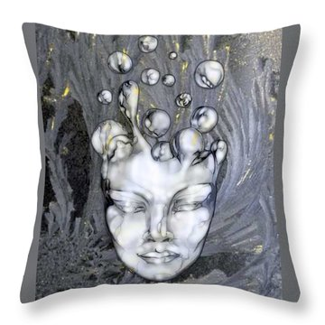 16x20 Slow Boil 014 Throw Pillow by Dia T