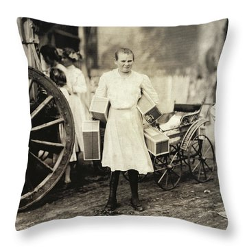 Hine Home Industry, 1912 Throw Pillow