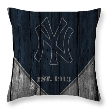 New York Yankees Throw Pillow by Joe Hamilton