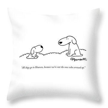 All Dogs Go To Heaven Throw Pillow