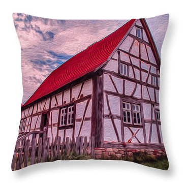 1700s German Farm Throw Pillow