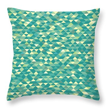 Throw Pillow featuring the digital art Pixel Art by Mike Taylor