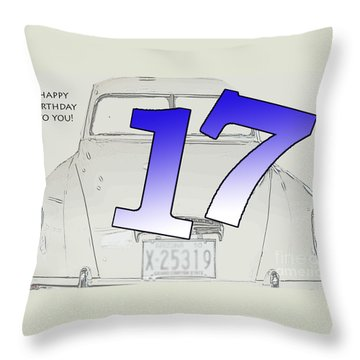 17th Birthday Throw Pillow by Randi Grace Nilsberg