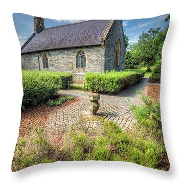 17th Century Church Throw Pillow by Adrian Evans