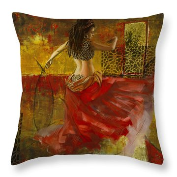 Abstract Belly Dancer 6 Throw Pillow
