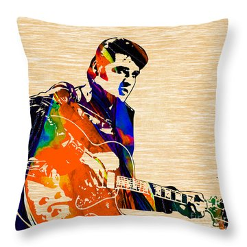 Elvis Presley Collection Throw Pillow