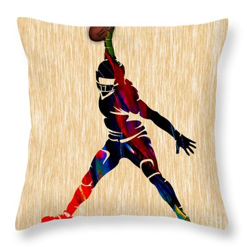 Football Throw Pillow by Marvin Blaine