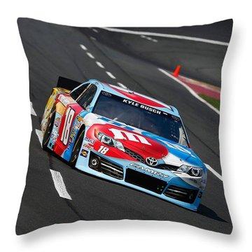 #18 Kyle Busch Throw Pillow