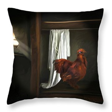 18. Red Rooster Throw Pillow