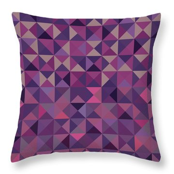 Throw Pillow featuring the digital art Retro Pixel Art by Mike Taylor
