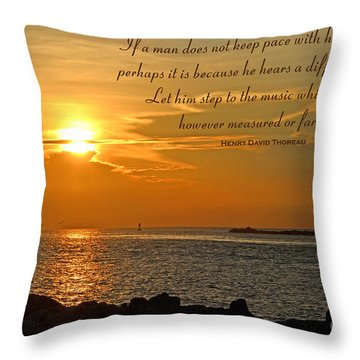 180- Henry David Thoreau Throw Pillow by Joseph Keane