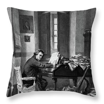 1800s 1811 Painting By Schloesser Throw Pillow