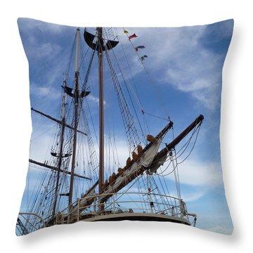 1812 Tall Ships Peacemaker Throw Pillow by Lingfai Leung