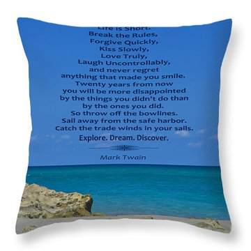 186- Mark Twain Throw Pillow by Joseph Keane