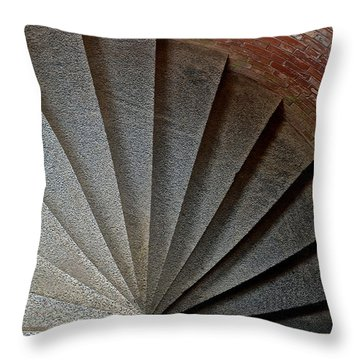 1861 Fort Point Tower Stairs San Francisco Bay Throw Pillow by Bill Owen