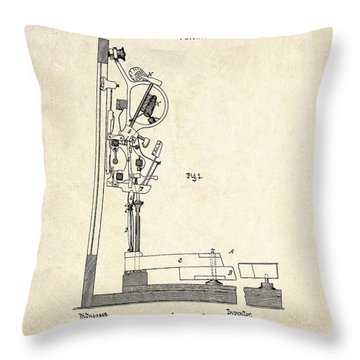 1878 Steinway Piano Forte Action Patent Art  Throw Pillow