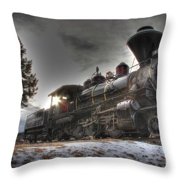 1880 Train Throw Pillow