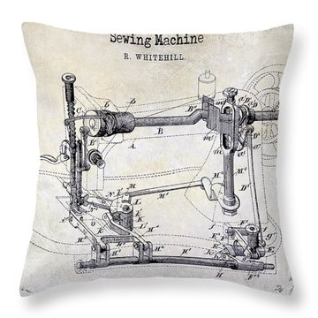 Sewing Machines Throw Pillows