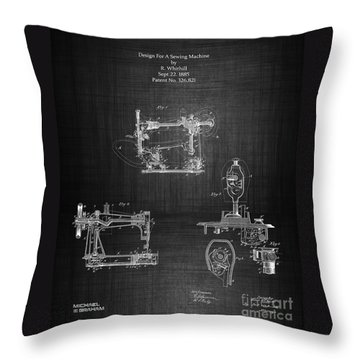 1885 Singer Sewing Machine Throw Pillow