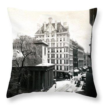 1890 Tremont Street Boston Throw Pillow