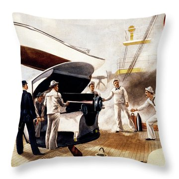 1890s 1891 Armored Cruiser Us Navy Gun Throw Pillow