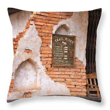 1893 Ghost Town Throw Pillow by Pamela Walrath